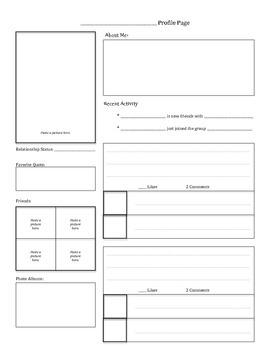Facebook Profile Template (Characterization)