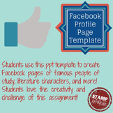 Facebook Profile Template GREAT for literature studies or study of famous people