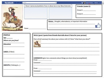 Facebook Profiles: Latin American Independence leaders Lesson Bundle