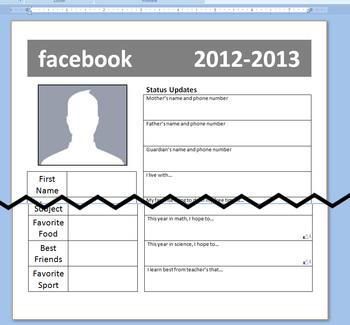 Facebook Student Information Form