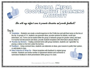 Facebook-Style Cooperative Learning/Exit Slip Activity