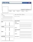 Facebook Template - Great for First Day of School or Novel