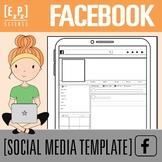 Facebook Profile Template- Social Media Template- No Prep! Printable and Go!