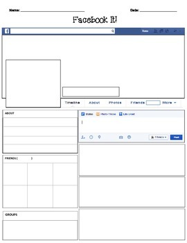 Facebook template blank by teacher spot 39 s teacher for Historical facebook page template