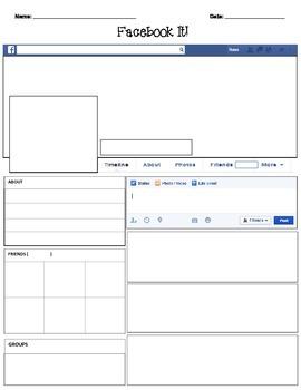 historical facebook page template - facebook template blank by teacher spot 39 s teacher