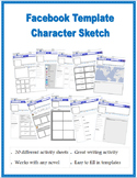 Facebook Template / Character sketch (20 activity sheets)