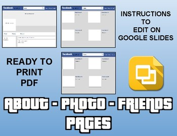 Facebook Template (Editable on Google Slides)