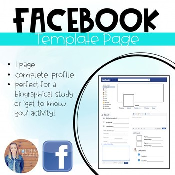 Facebook Template Worksheet
