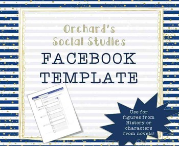 Facebook Template for Historical Figures or Literary Characters