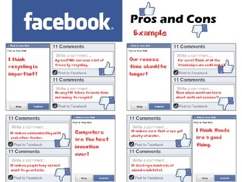 Facebook Themed Graphic Organizers