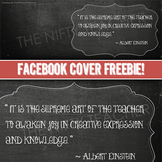 Facebook Cover- Chalkboard Design!  Albert Einstein Quote!