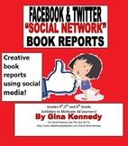 Facebook & Twitter Social Media Book Report Templates, Creative Fun!