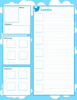facebook and twitter character pages blank templates by social