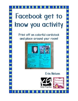 Facebook get to know activity