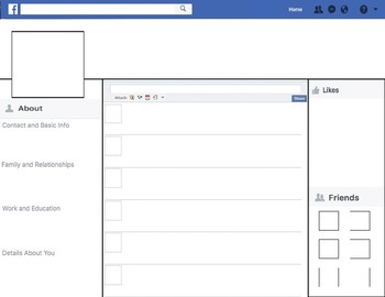 Facebook Template (Communicative Activity)