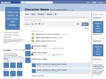 Facebook template - Character