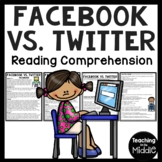 Facebook vs. Twitter Compare and Contrast Article & Comprehension Questions