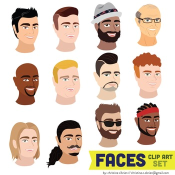 Faces Clip Art Set