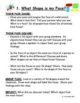 Faces, Edges, Corners a 3d Shape Investigation.