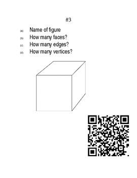 Faces, Edges, & Vertices QR Codes