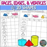 Faces, Edges, & Vertices of 3D Shapes