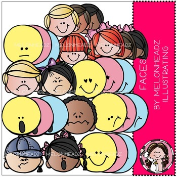 Melonheadz: Faces clip art - Combo Pack