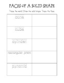 Faces of a Solid Figure Worksheet