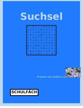 Schulfacher (School subjects in German) wordsearch