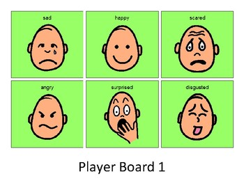 Facial Expression Bingo - Boardmaker