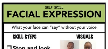 Facial Expression Social Skill Steps Poster - The Empower Program K-2