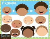 MYO Facial Expressions and Emotions Clip Art