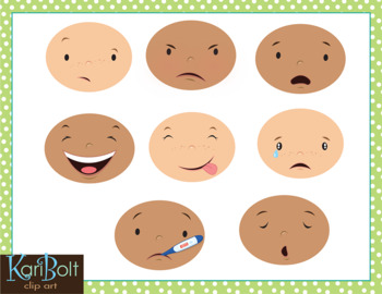 MYO Facial Expressions and Emotions Clip Art