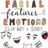 Facial Features and Emotions Clip Art & Sort
