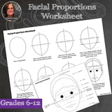 Facial Proportions Worksheets - Portrait Worksheets