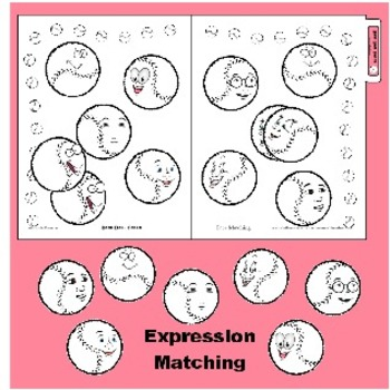 Facial Recognition / Emotion File Folder Game Printable Expression Matching