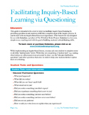 Facilitating Inquiry-Based Learning via Questioning