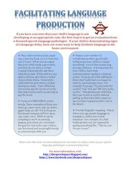 Facilitating Language Production