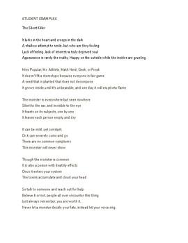 Facing Adversity Creative Writing - Monster Poem