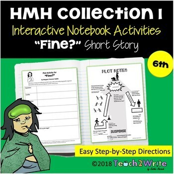 Facing Fear Collection 1 Bundle Interactive Notebook ELA HMH Gr. 6 Collections