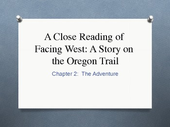 Facing West A Story of the Oregon Trail Cause & Effect Analysis
