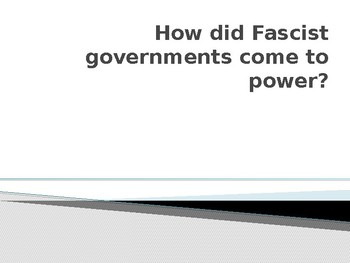 Facism Powerpoint