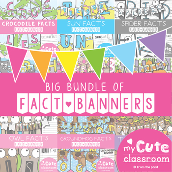 Fact Banners Bundle {Bunting, Garland, Pennant Display}