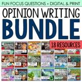 Opinion Writing BUNDLE (18 Seasonal/Holiday-Related Resour
