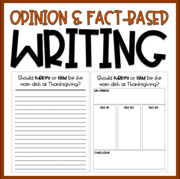 Fact Based Opinion Writing: Should Turkey or Ham be served at Thanksgiving?