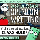 Back to School Opinion Writing Lesson & Activity (Digital