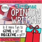 Fact-Based Opinion Writing for Christmas {Question #1}