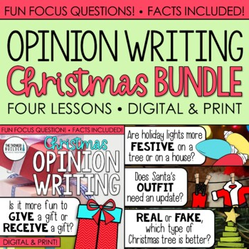Fact-Based Opinion Writing for Christmas {Question #1, #2, #3, & #4}