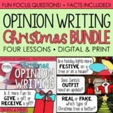 Christmas Writing (Digital & Print): Opinion Writing - Four Focus Questions