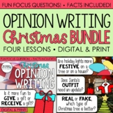 Christmas Writing: Opinion Writing Lessons & Activities {Q