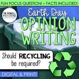 Earth Day Writing: Opinion Writing Lesson & Activity (Digital & Print)